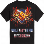 UK World War Tour 2010 Sabaton T-shirt 2010 Backside