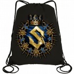Livgardet Sabaton Drawstring Bag Black Frontside