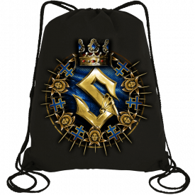 Livgardet Sabaton Drawstring Bag Black Frontside