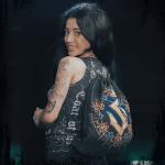 Livgardet Sabaton Drawstring Bag Black Frontside Model