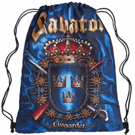 Livgardet Sabaton Drawstring Bag Dark Navy Frontside
