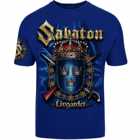 Livgardet Sabaton Royal Blue T-shirt Frontside