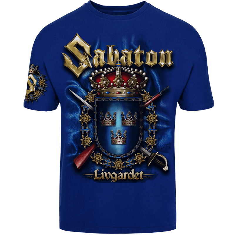 Livgardet Sabaton Royal Blue T-shirt Frontside