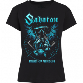 Fields Of Verdun Sabaton T-shirt Women Frontside