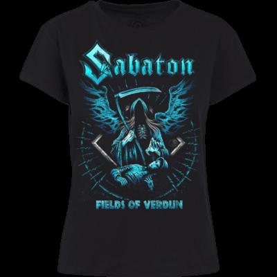 Fields Of Verdun Sabaton T-shirt Women Frontside