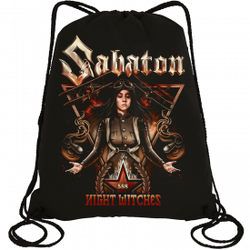 Night Witches Sabaton Drawstring Bag Frontside