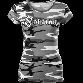 Sabaton Camo T-shirt Women Frontside