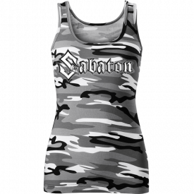 Sabaton Camo Tank Top Women Frontside