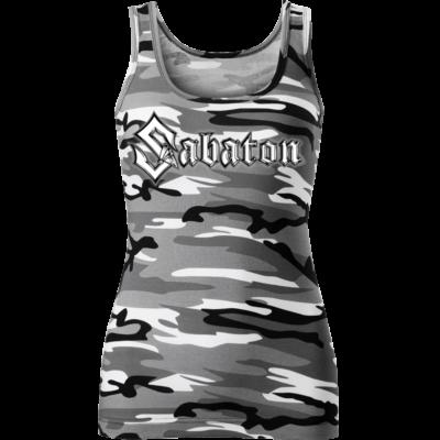 Sabaton Camo Tank Top Women Frontside