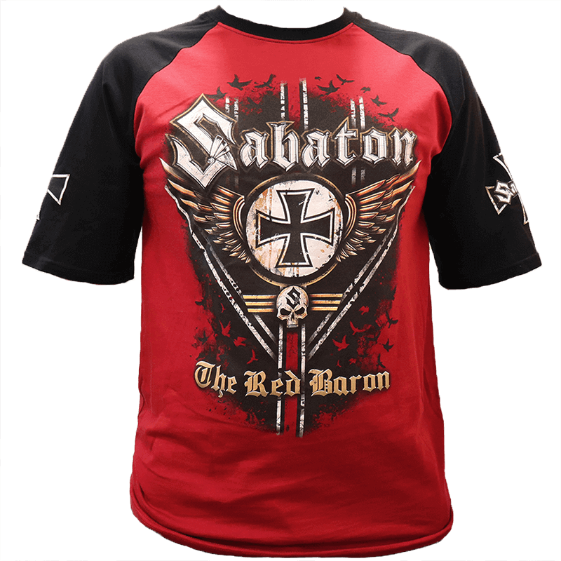 The Red Baron Raglan Front